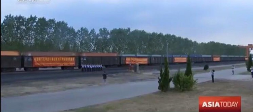 China launches its first cargo train to Afghanistan