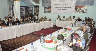 Raising legal awareness in schools in Balkh and Samangan