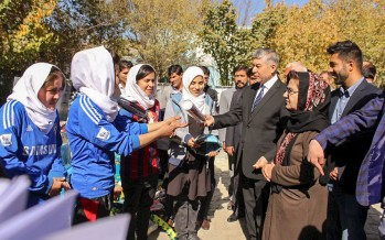 Sports equipment for 18 schools in Kabul & Mazar-e Sharif