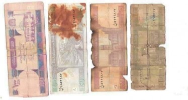 Defaced Afghan banknotes to be removed from market by August