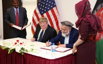USAID signs MoU with Ministry of Justice to improve access to services for Afghan people