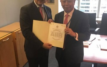 Afghanistan receives certificate of permanent membership to AIIB