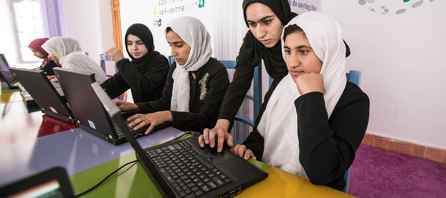 First group of Afghan female coders develop game to combat opium