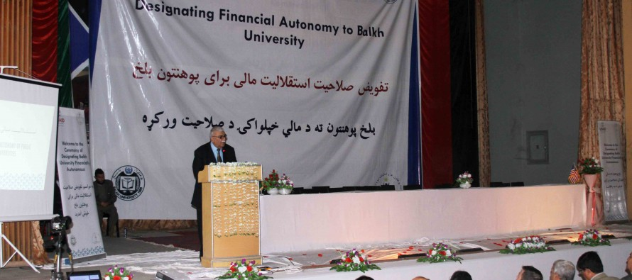 Balkh University Designated as Financially Autonomous