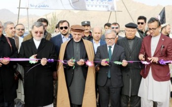 Ghani Inaugurates 4 Major Development Projects In Daikundi