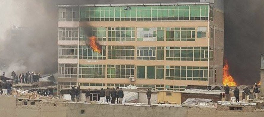 A Market In Kabul Catches Fire