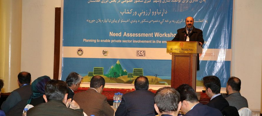 Private Sector Involvement In Afghan Energy Production