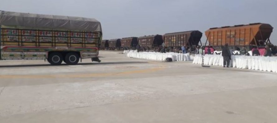 Over 9000 Tons of Food Supplies Imported to Afghanistan Through Railroads