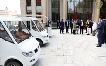 Afghan Made Vehicles Exhibited in Presidential Palace