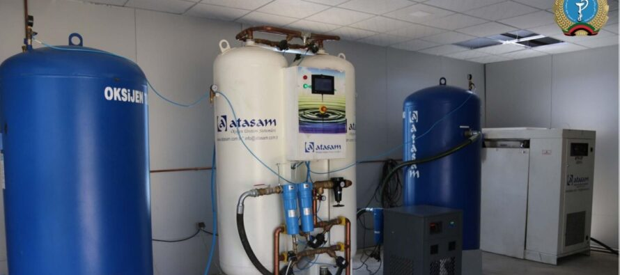 An Oxygen Production Machine Activated in Sheikh Zahed University of Khost